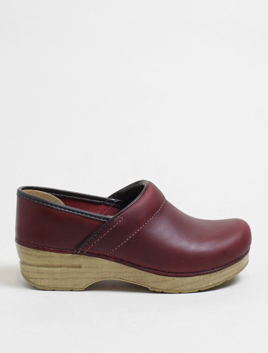Dansko Professional clogs oiled red