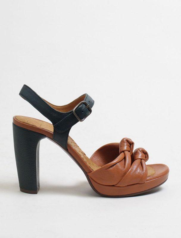 Chie Mihara Champan Cuero sandalo