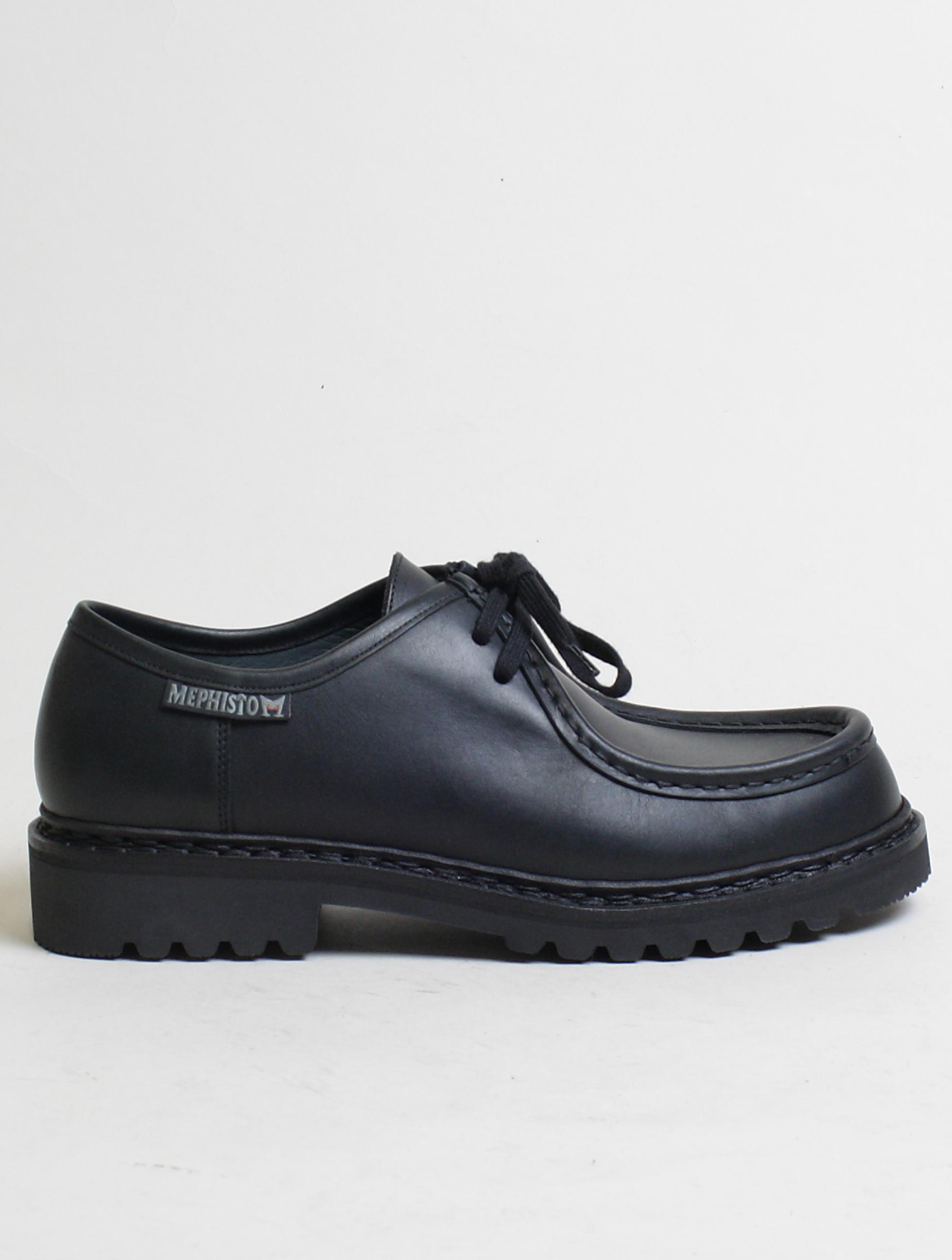 best website 88770 ce2e7 Mephisto scarpa allacciata 2 fori Peppo Black