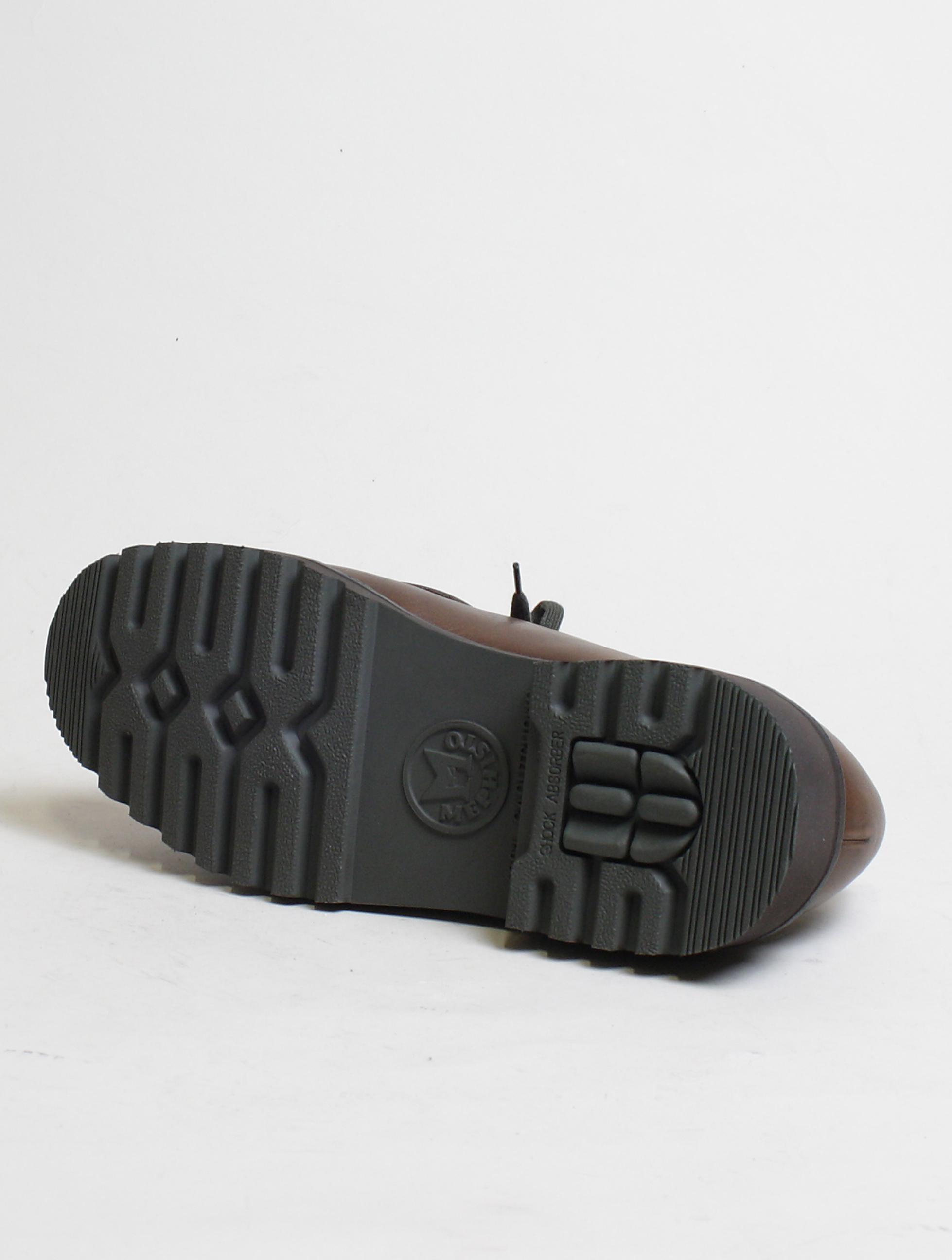 Mephisto scarpa allacciata 2 fori Peppo Dark Brown suola