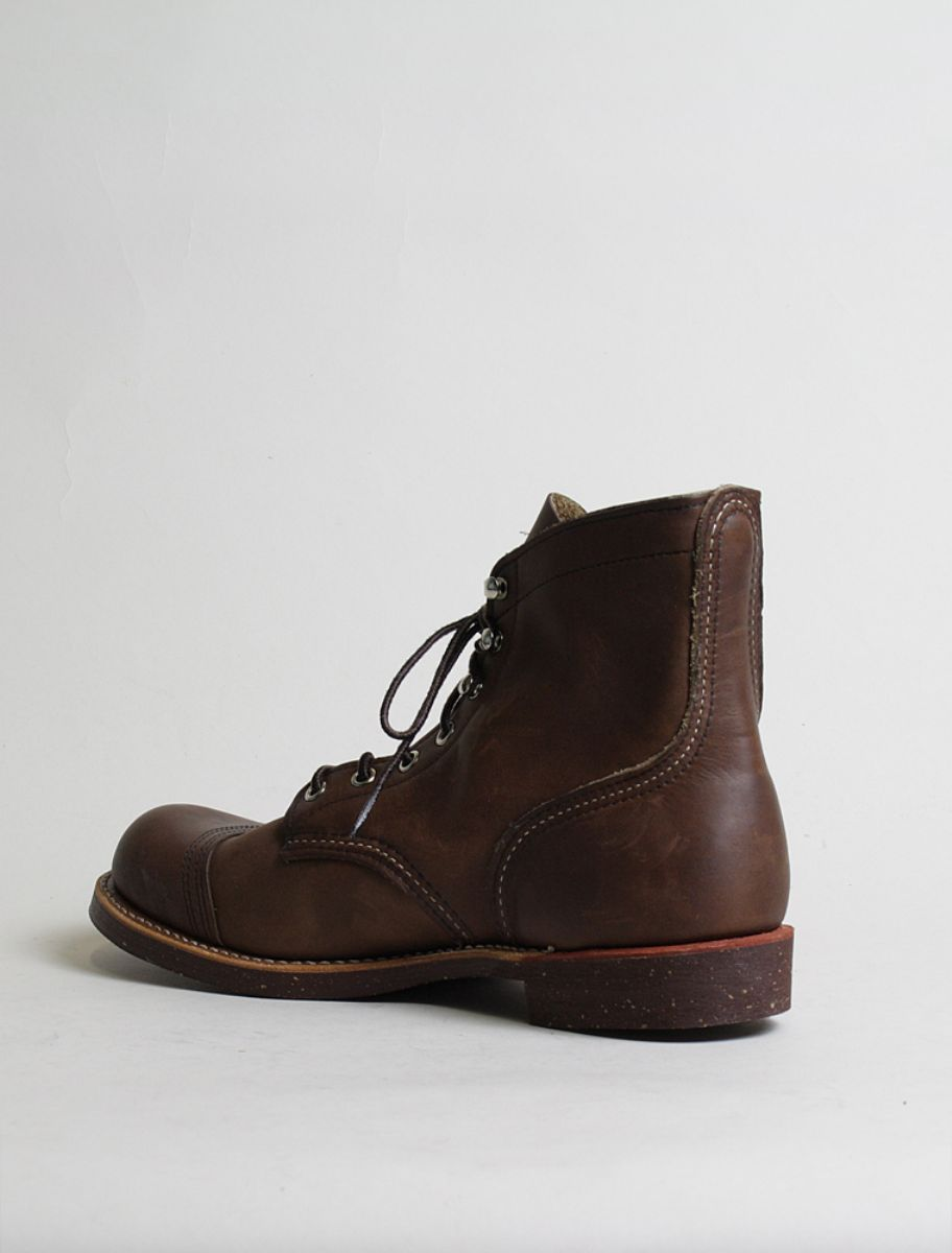 Red Wing Iron Ranger 8111 Amber 3/4 retro