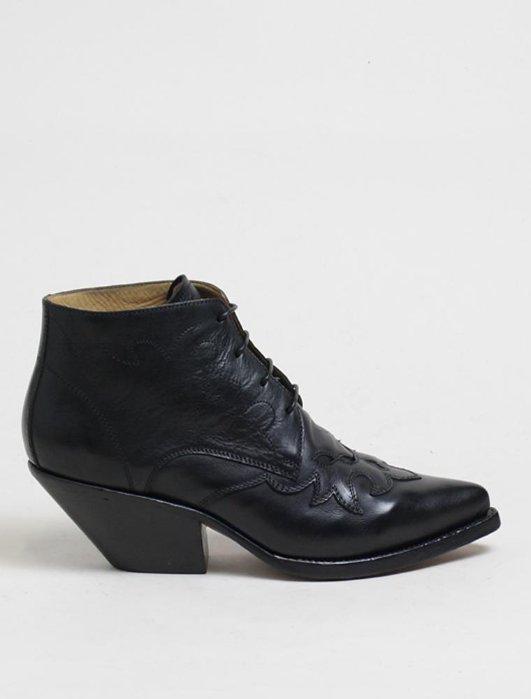 Buttero B7206 Elise lace up Durango black boots