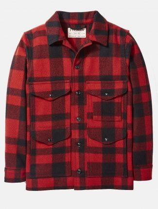 Filson Mackinaw wool cruiser jacket Red Black Plaid