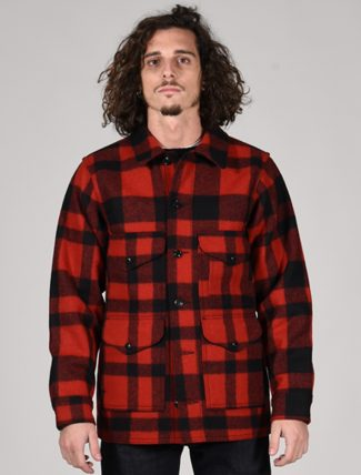 Filson Mackinaw wool cruiser jacket Red Black Plaid