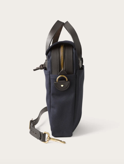 Filson borsa Original Briefcase Navy dettaglio laterale