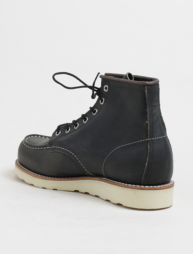 Red Wing 8890 Classic Moc Charcoal Rough Tough Leather 3/4 retro