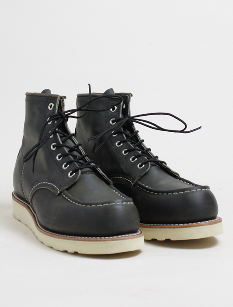 Red Wing 8890 Classic Moc Charcoal Rough Tough Leather 3/4