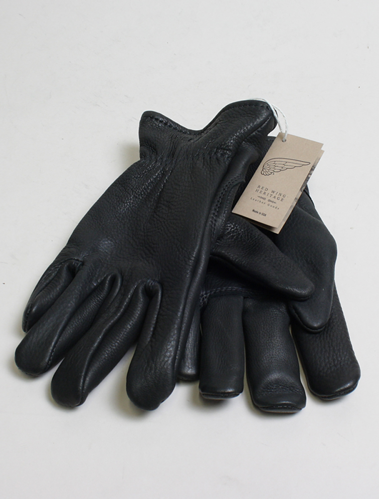 Red Wing 95232 Black Buckskin Gloves