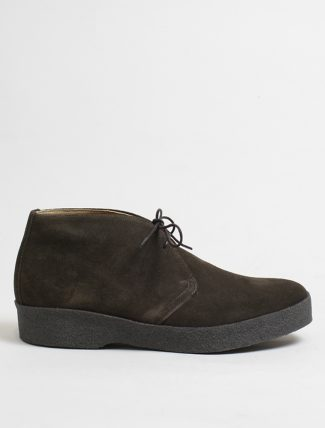 Sanders hi-top chocolate suede chukka