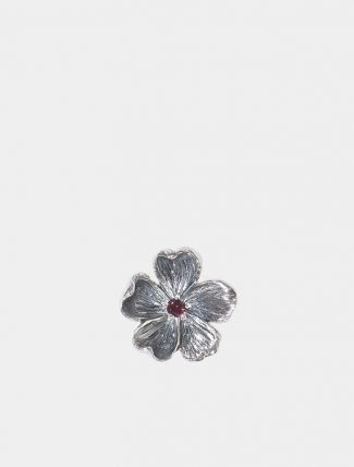 Ciondolo Mandorlo piccolo in argento con zircone