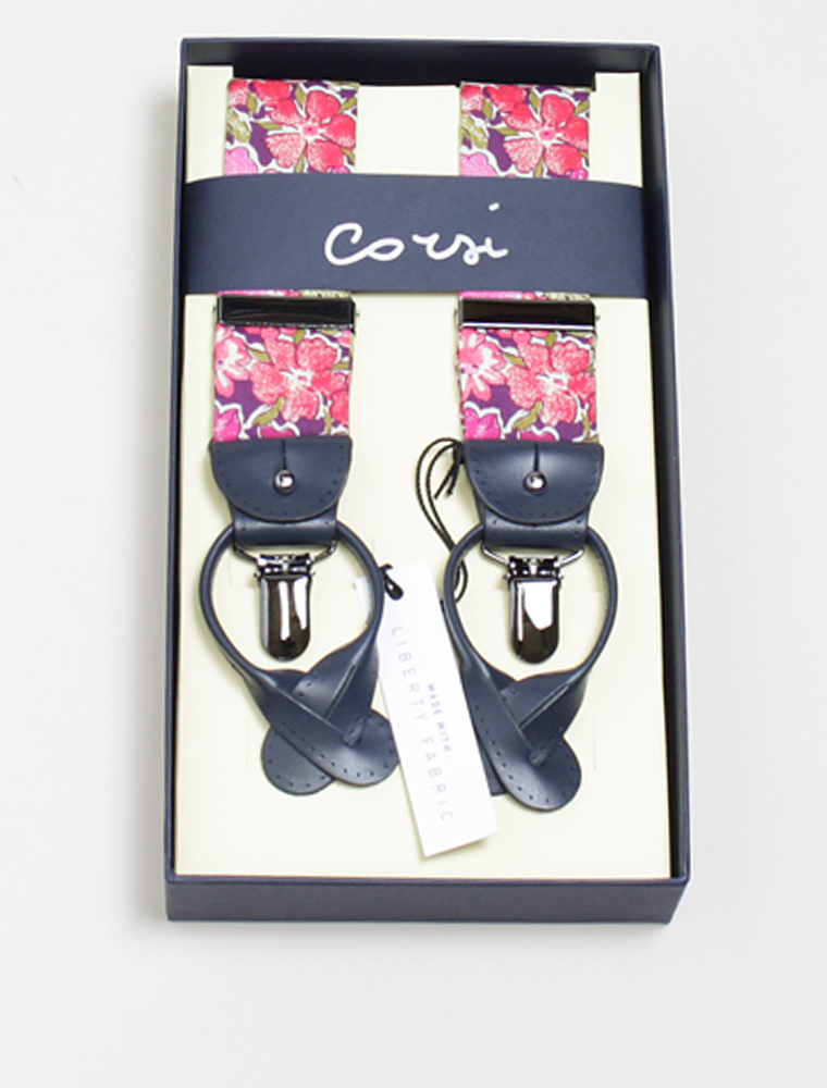 Corsi liberty pink flower braces
