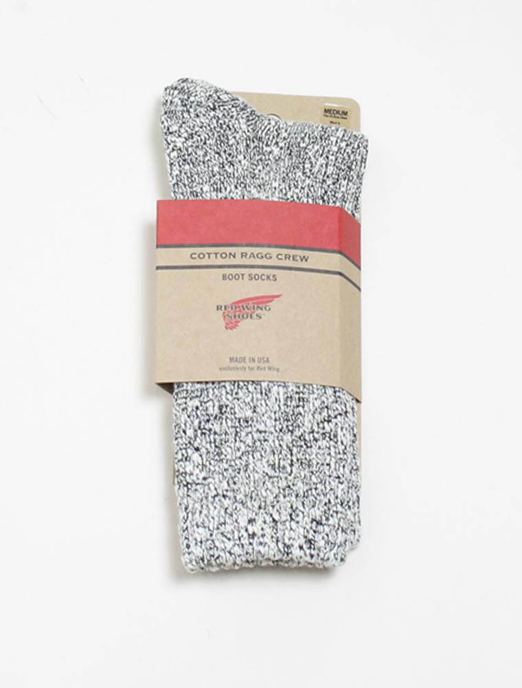Red Wing 97167 socks cotton rag black confezione