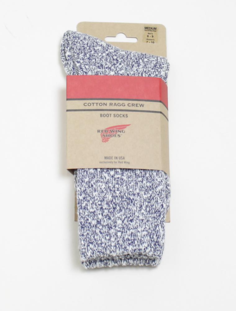 Red Wing 97168 socks cotton rag blue confezione