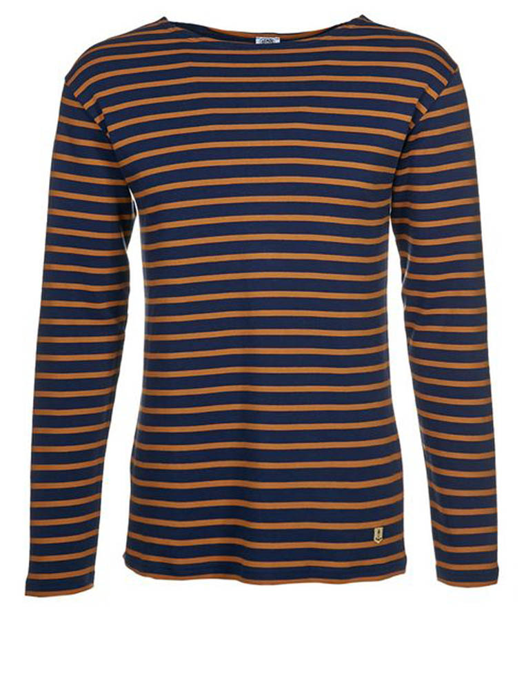 Armor Lux 2297 Heritage Breton shirt long sleeves Aviso tobacco