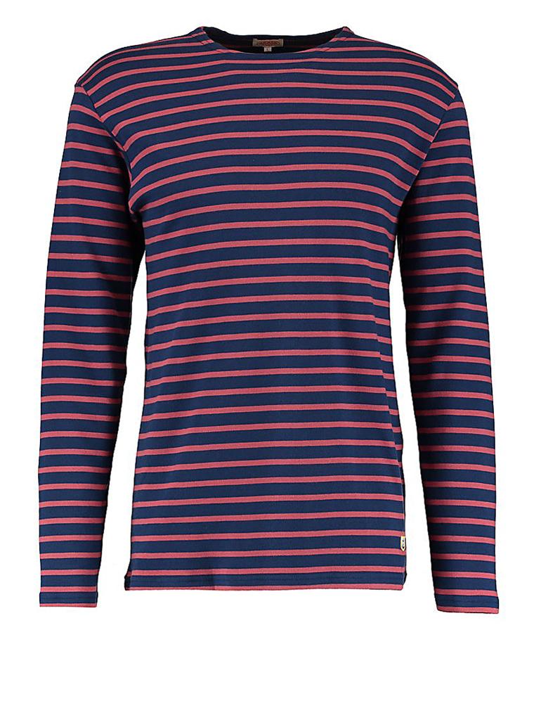 Armor Lux 2297 Heritage Breton long sleeves dark blue/dark red