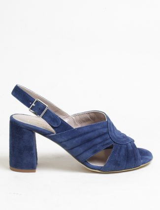 Cheville Jasmine camoscio blu