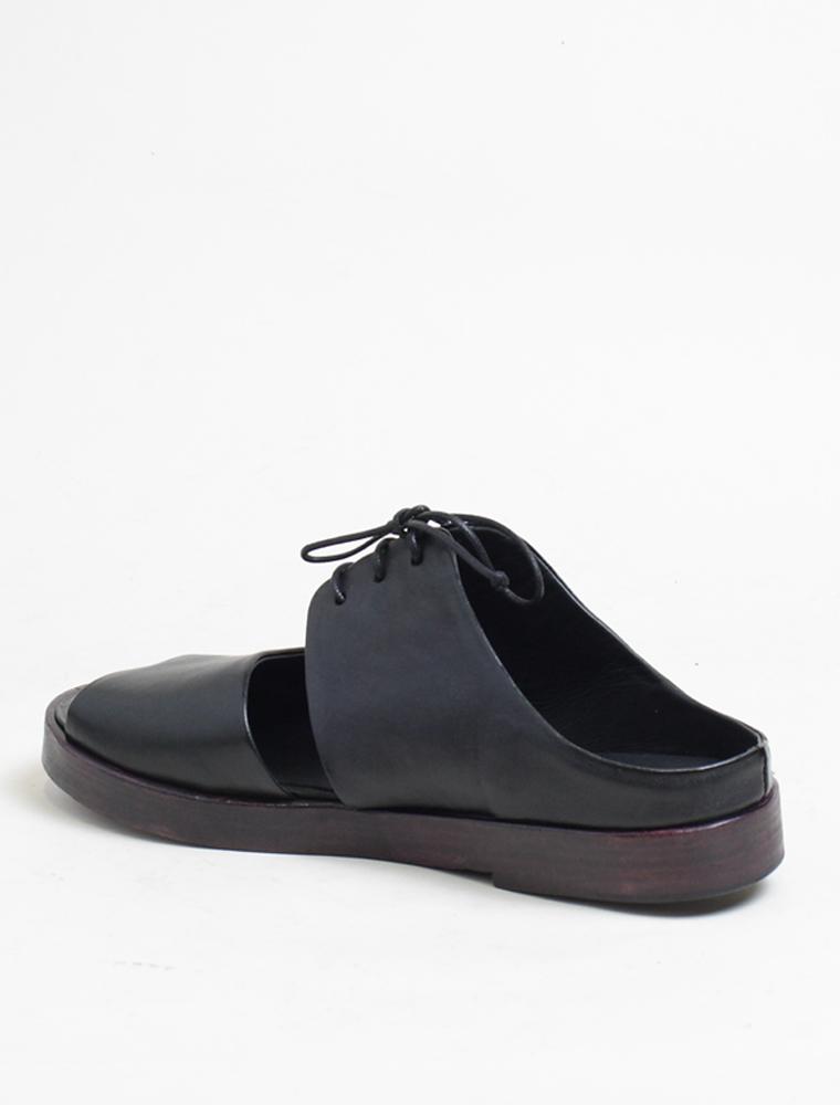 Ernesto Dolani d3406 sandalo nero laccio chianti lato