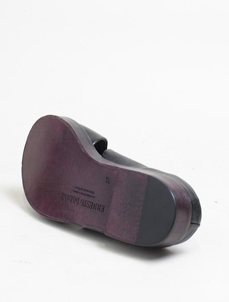 Ernesto Dolani d3406 sandalo nero laccio chianti suola