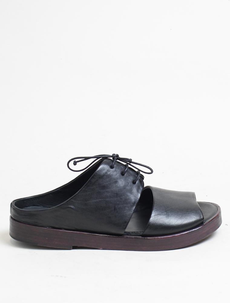 Ernesto Dolani d3406 sandalo nero laccio chianti
