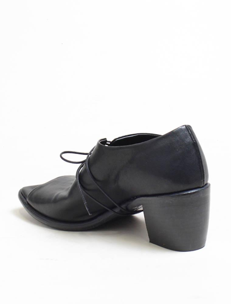 Ernesto Dolani d3426 sandalo allacciato nero lavato tacco