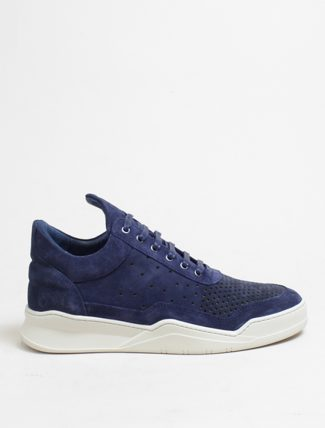 Filling Pieces Low Top Ghost Gradient perforated Cobalt Blue