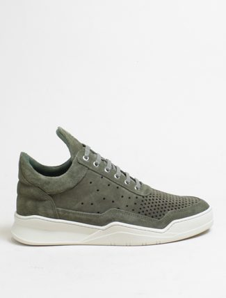 Filling Pieces Low Top Ghost Gradient perforated Dark Green