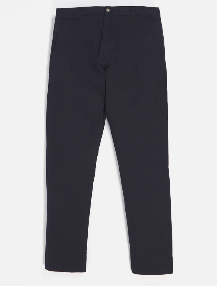 Universal Works Aston Pant Cotton Linen Panama Navy