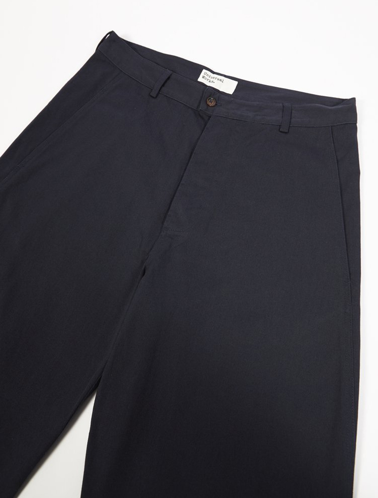 Universal Works Bakers Pant Twill Navy bottone