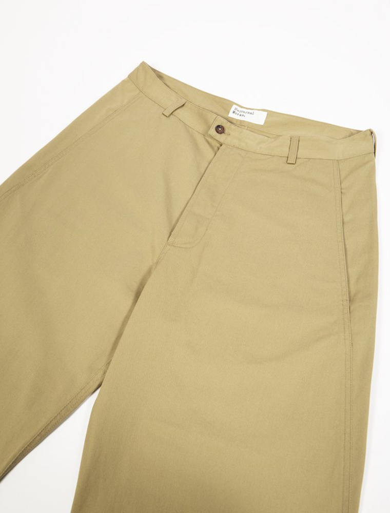 Universal Works Bakers Pant Twill Sand davanti