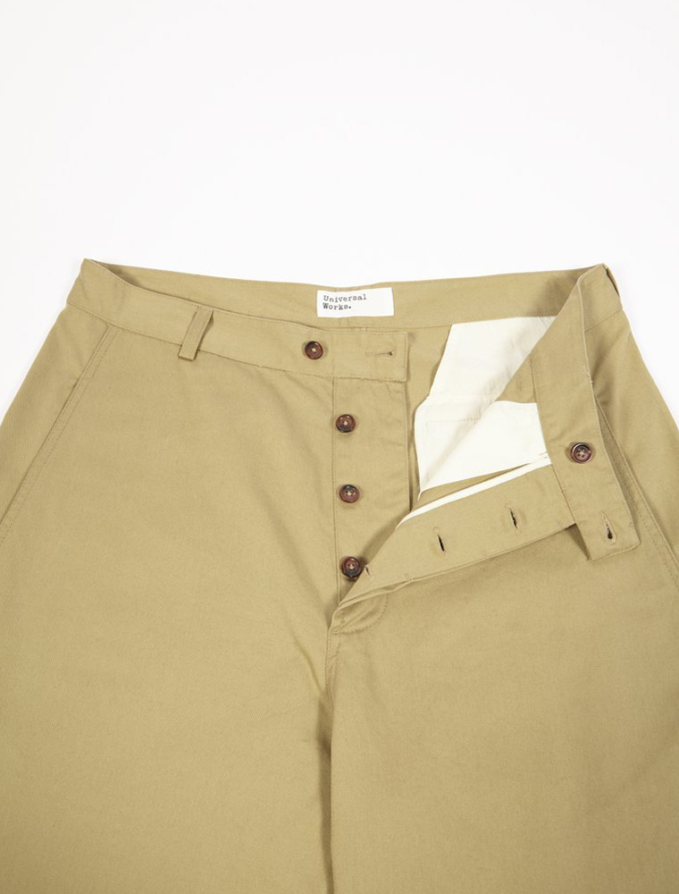 Universal Works Bakers Pant Twill Sand patta