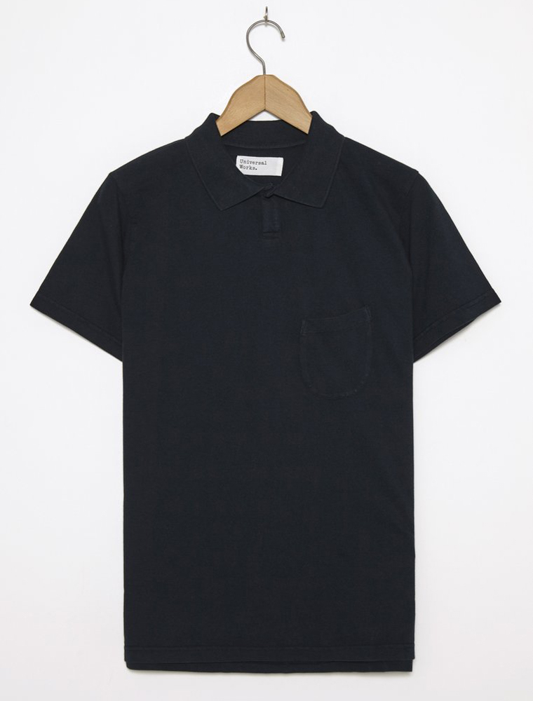 Universal Works Vacation Polo Piquet Navy