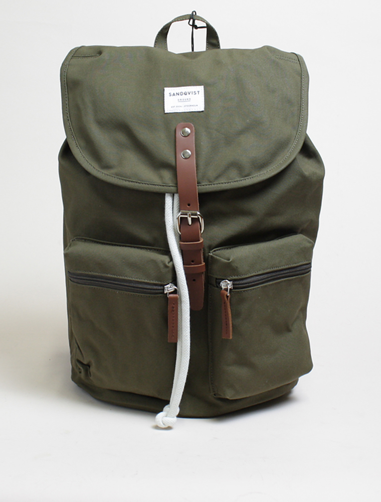 Sandqvist backpack Roald Olive