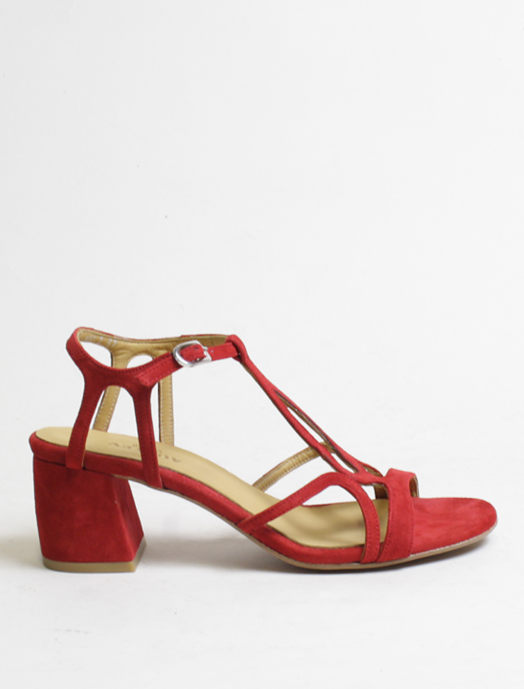 Audley 20434 sandalo camoscio rosso