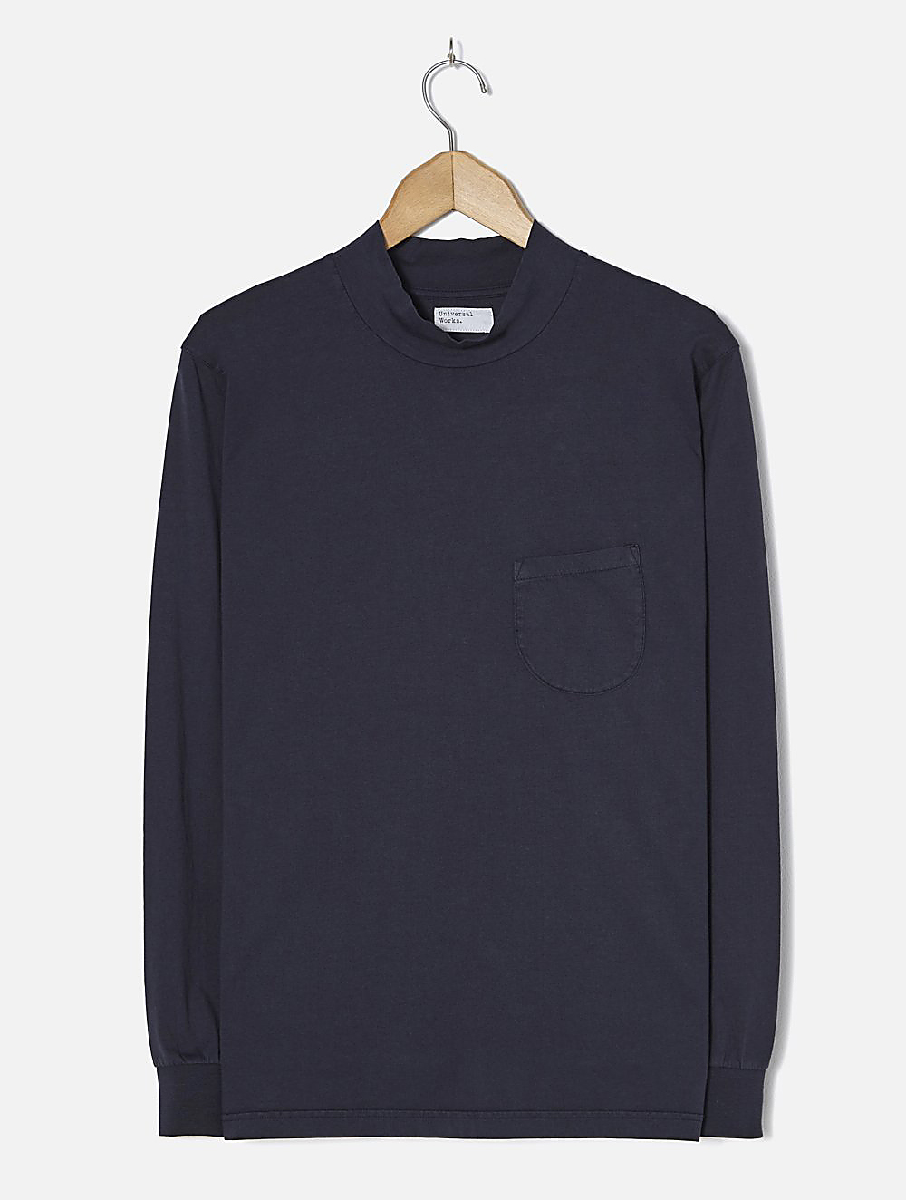 Universal Works Turtle Neck single jersey navy