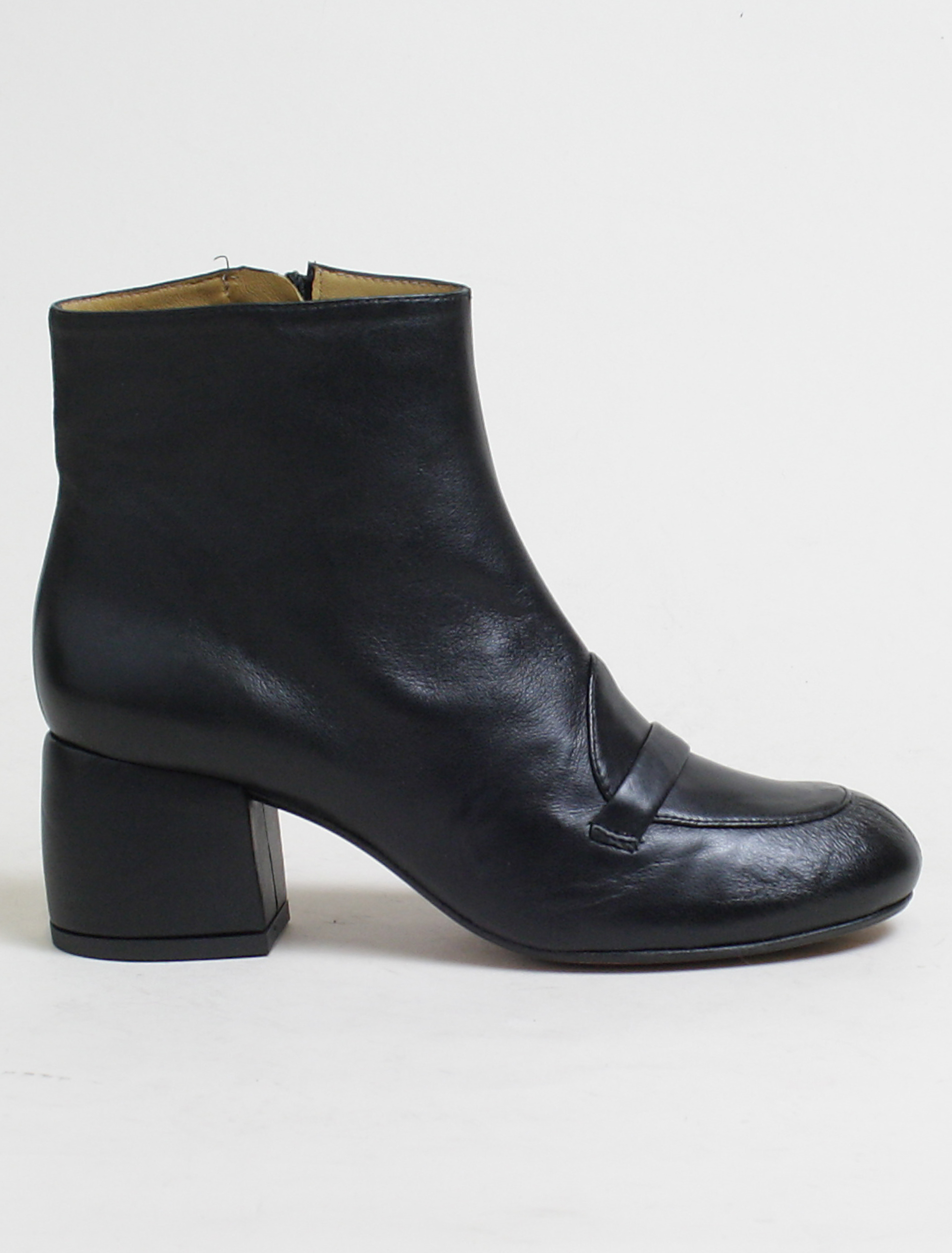 Audley black muton ankle boot