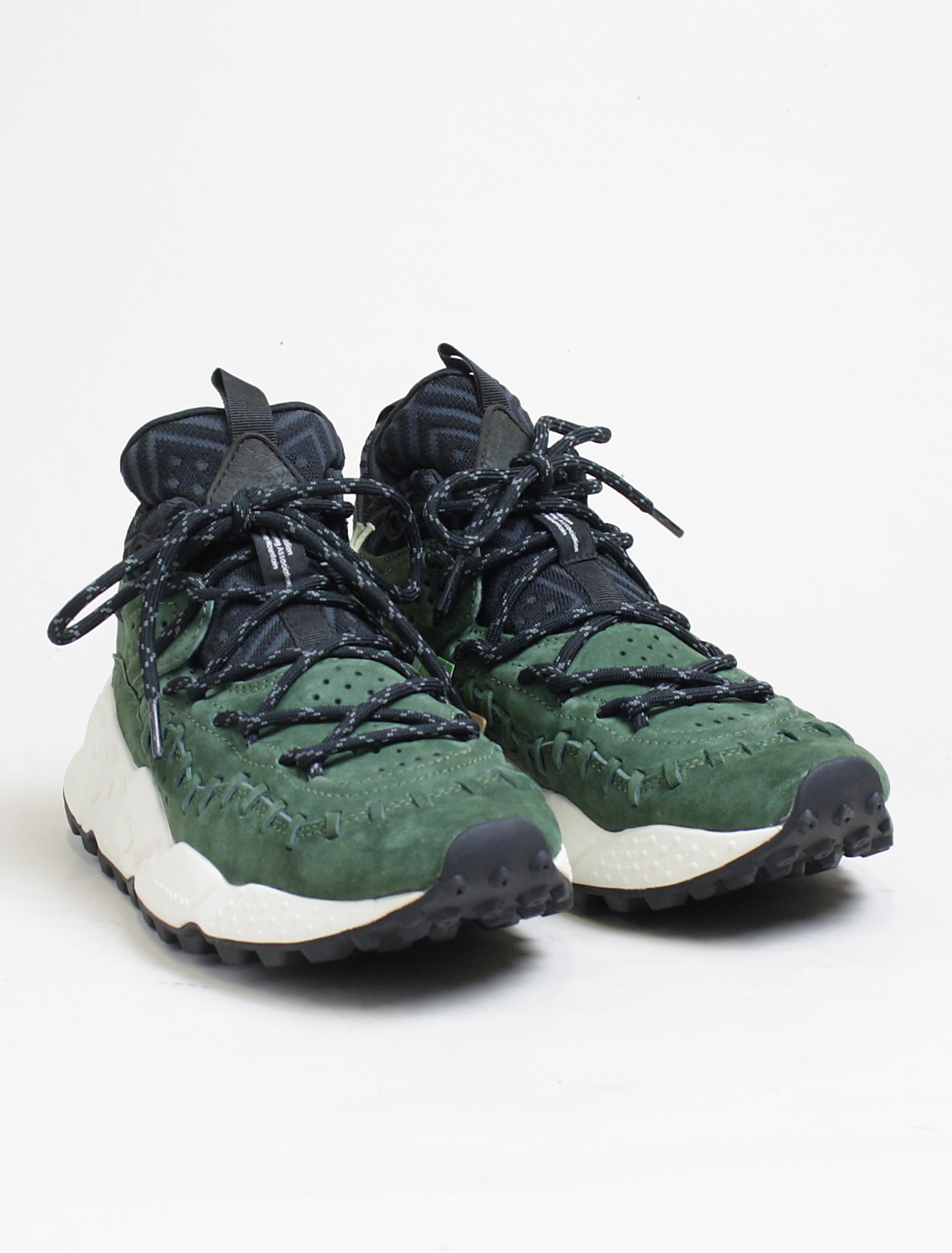 Flower Mountain sneakers Mohican pigskin green paio