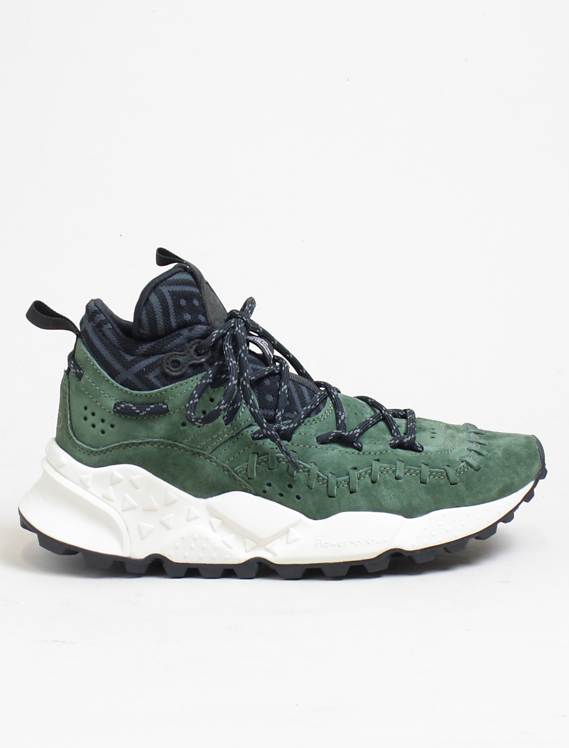 Flower Mountain sneakers Mohican pigskin green
