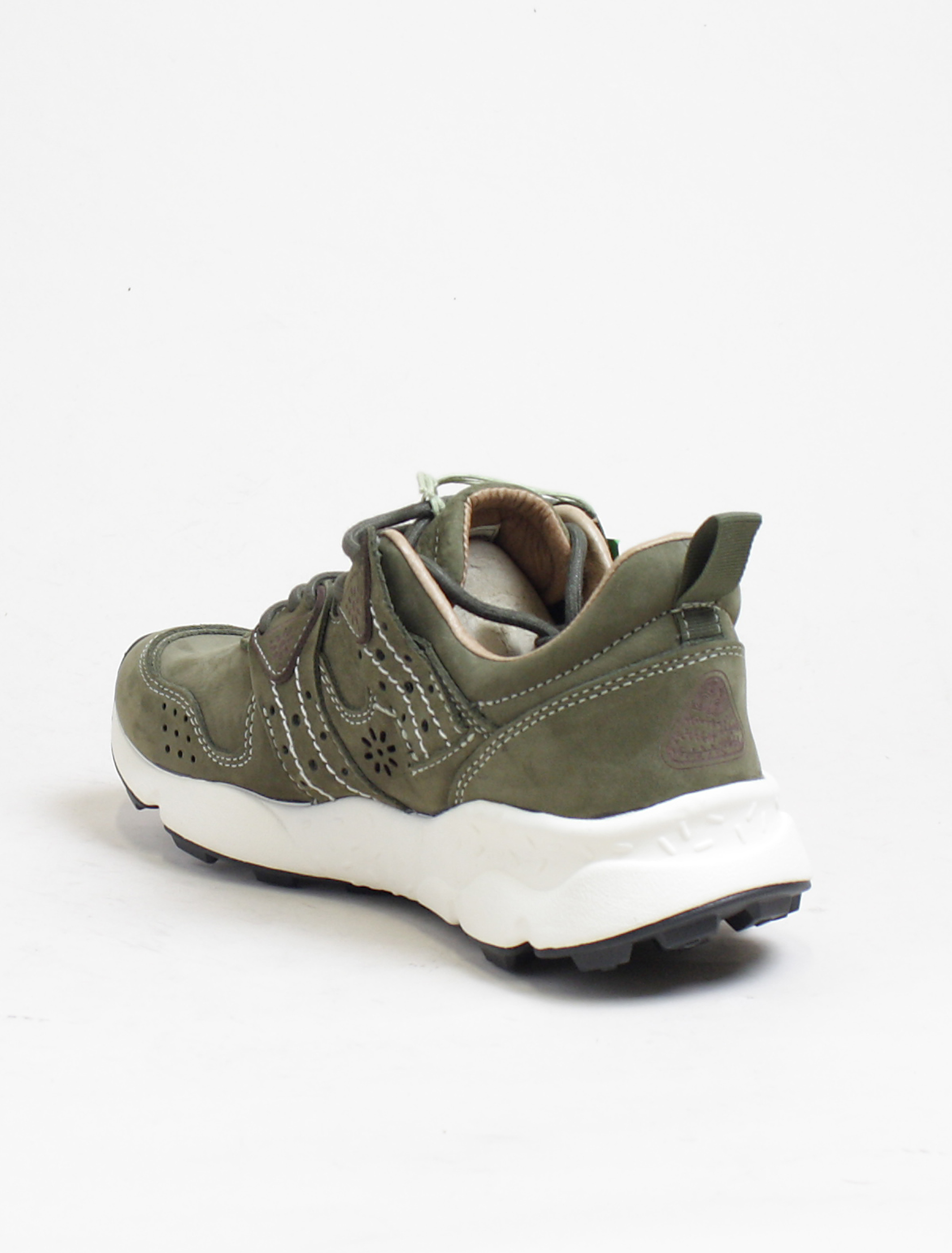 Flower Mountain sneakers Corax 2 nubuk militare dettaglio interno