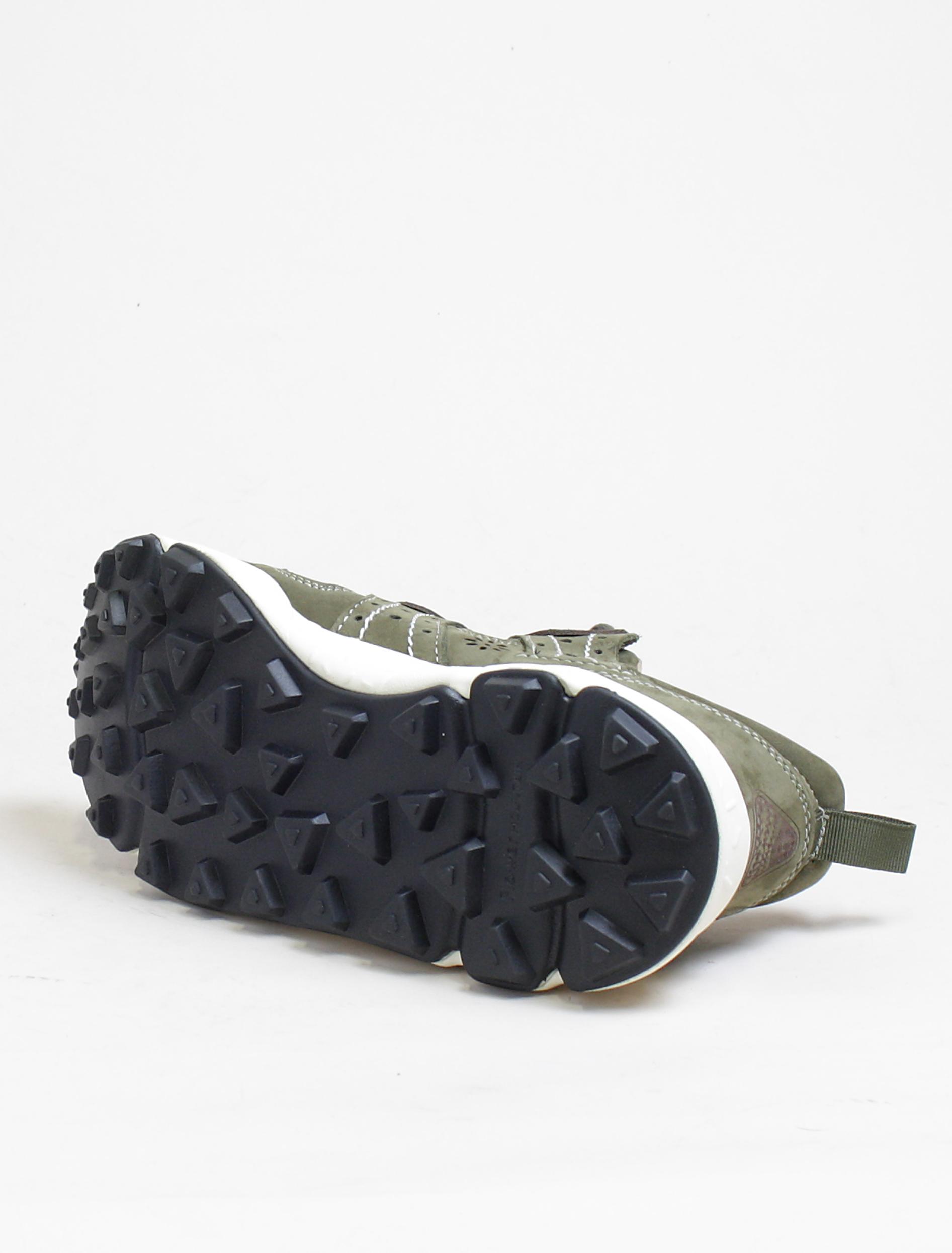 Flower Mountain sneakers Corax 2 nubuk militare dettaglio suola