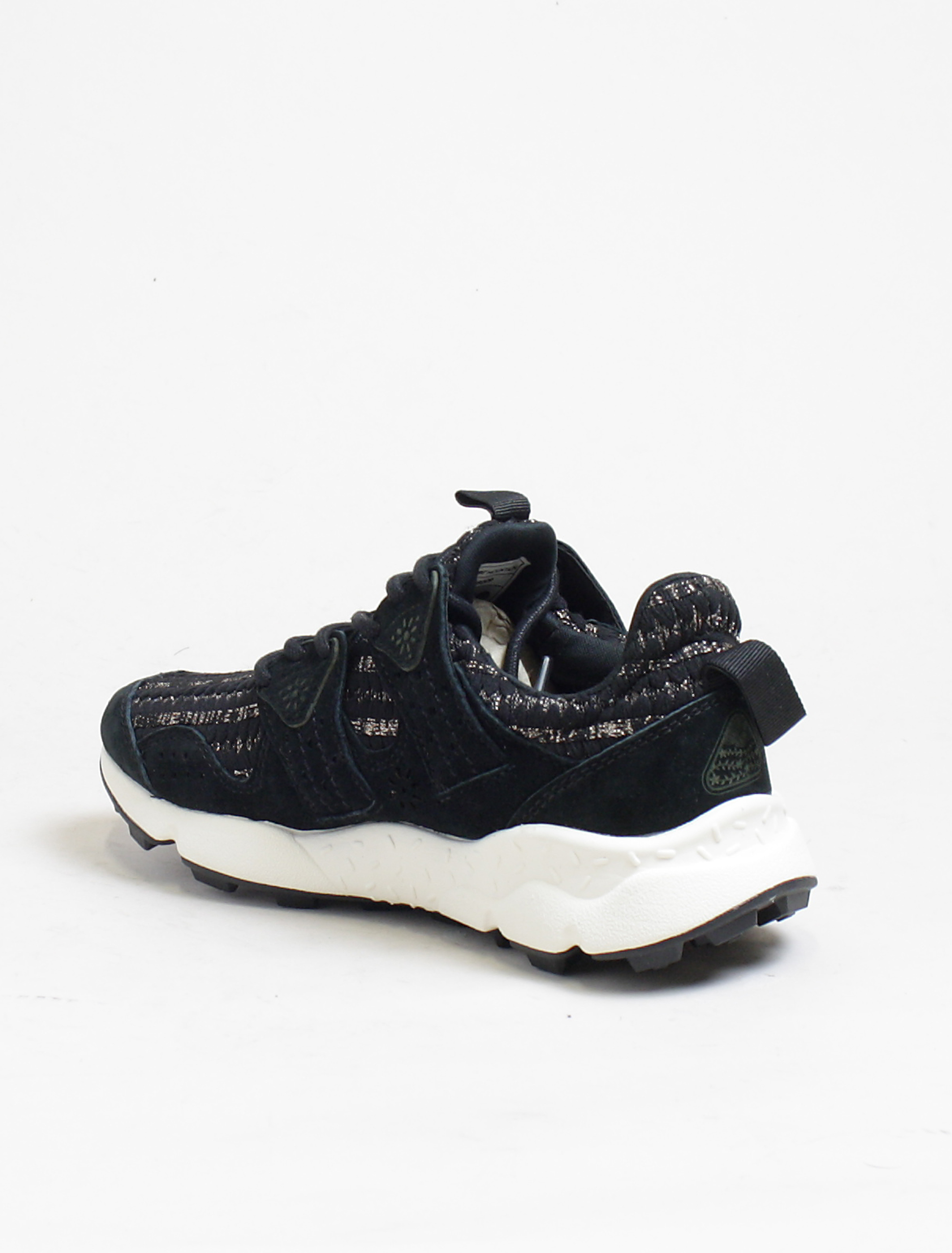 Flower Mountain sneakers Corax lurex stripes black gold dettaglio interno