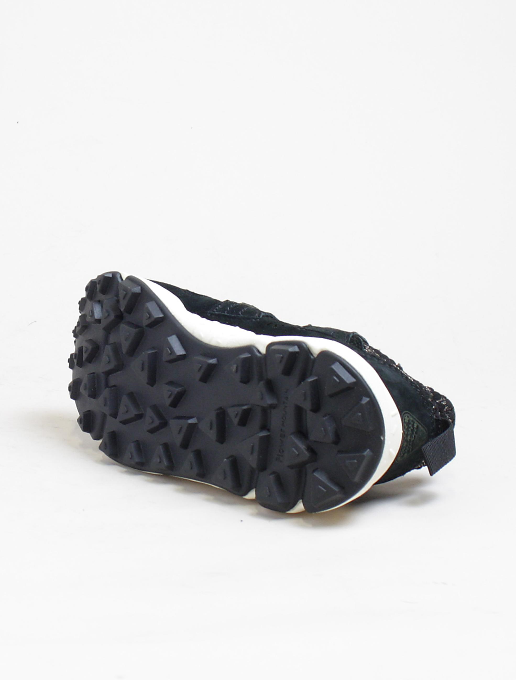 Flower Mountain sneakers Corax lurex stripes black gold suola