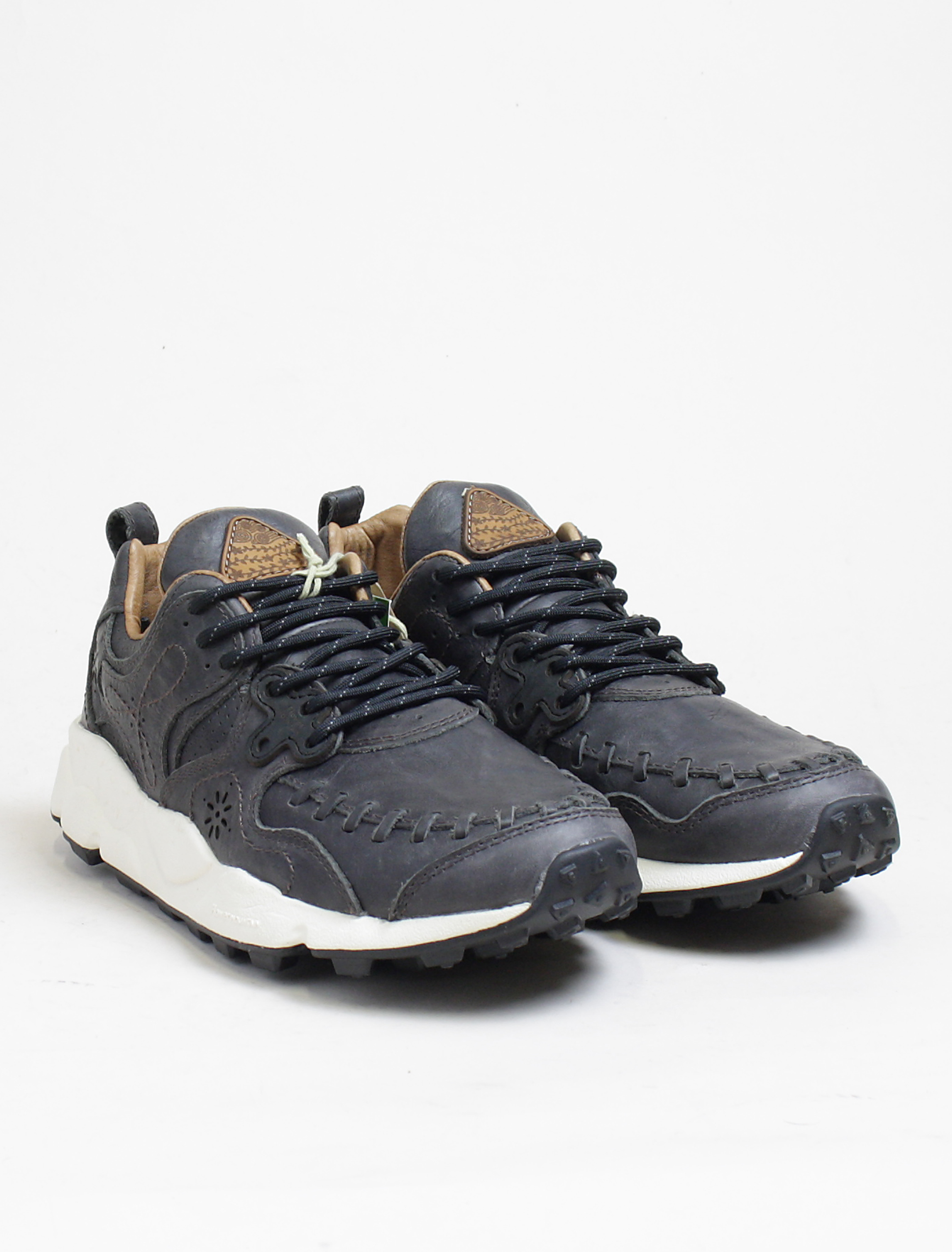 Flower Mountain sneakers Yamano calf black paio