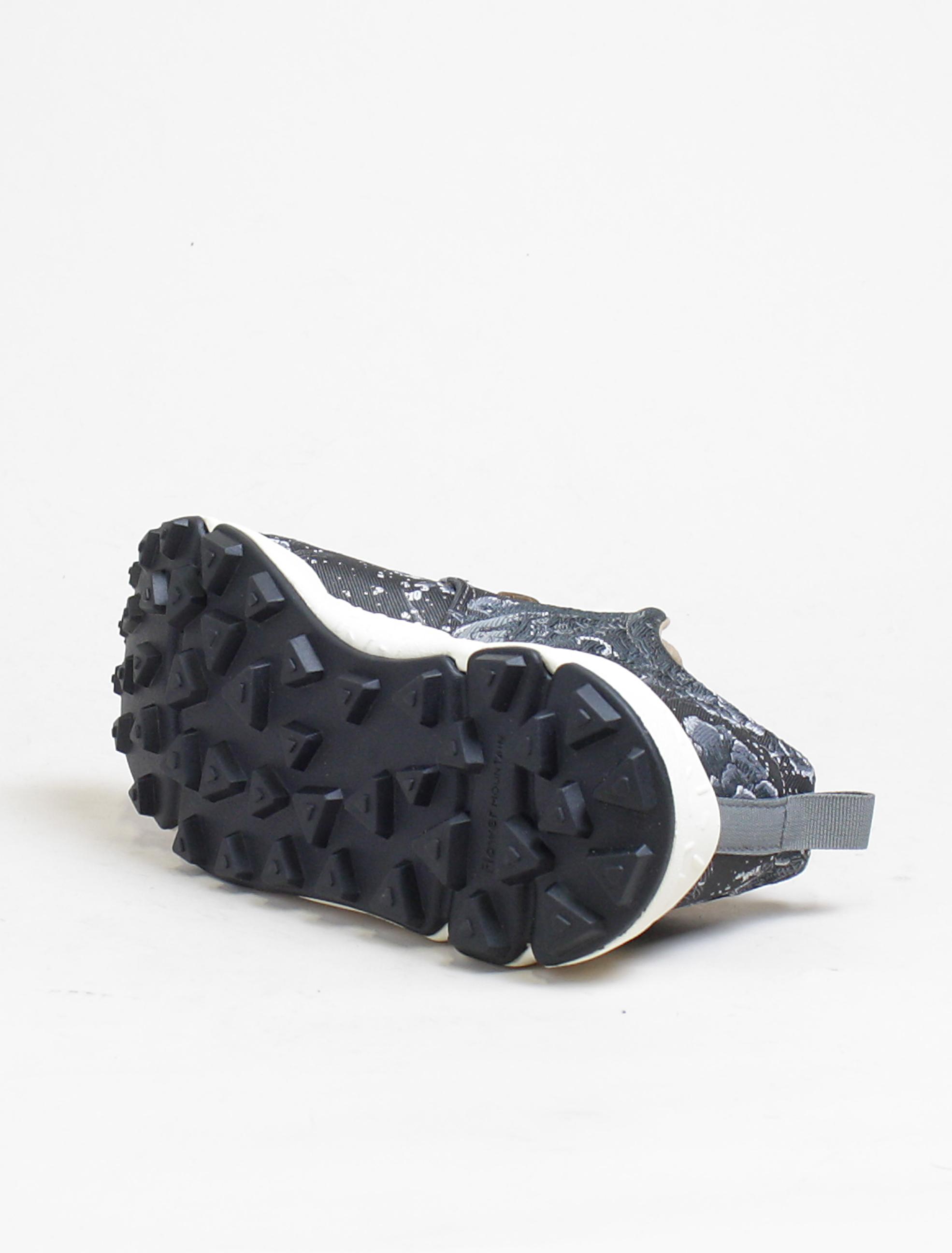 Flower Mountain sneakers Pampas black silver suola