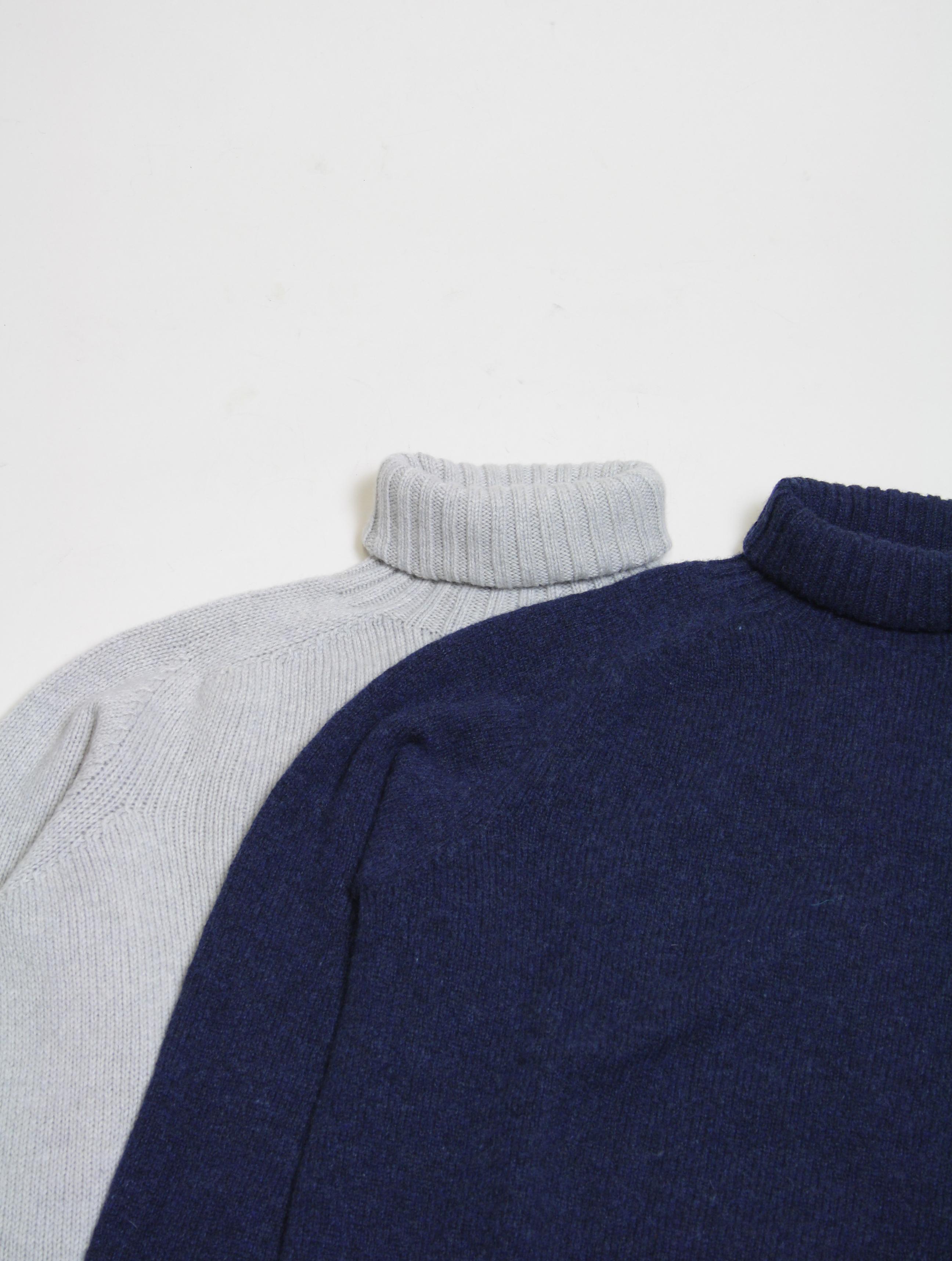 Harley of Scotland maglione a collo alto L3874 Agate dettaglio collo