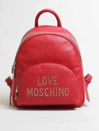 Love Moschino zaino borchie rosso