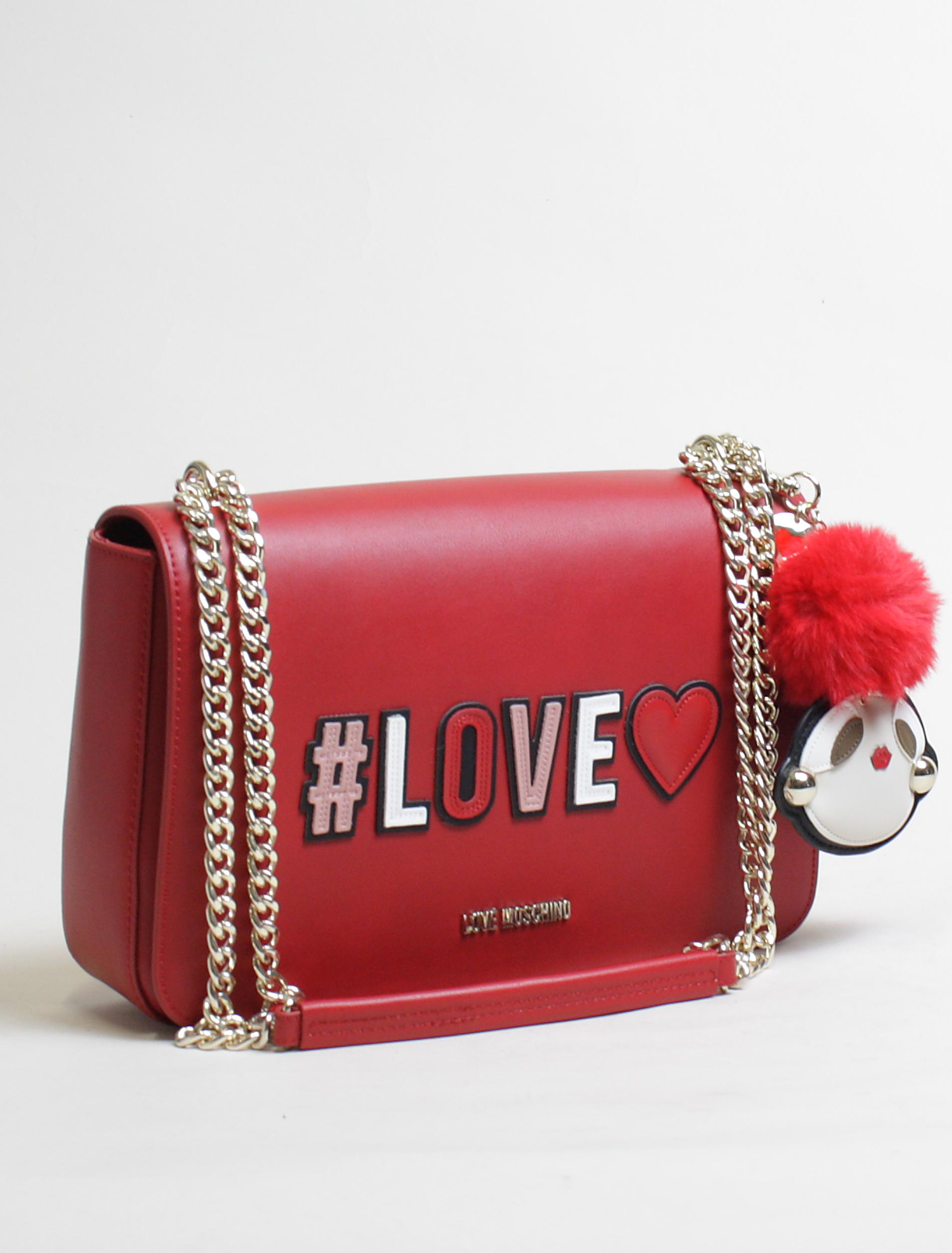 Love Moschino tracolla love rosso 2