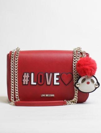 Love Moschino tracolla love rosso