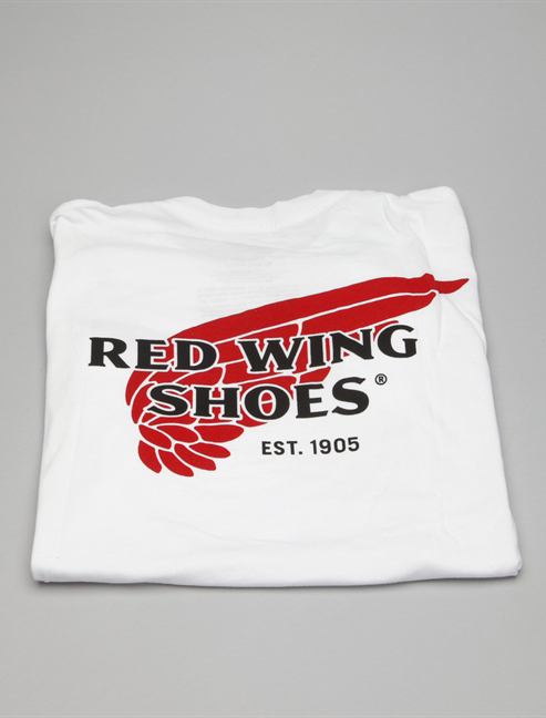 Red Wing T-shirt 97403 Bianco dietro