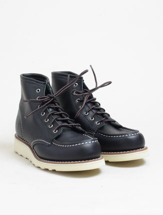 Red Wing 3373 Moc Toe Black Boundary paio
