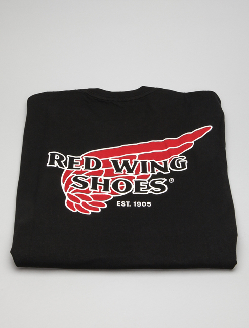 Red Wing T-shirt 97405 Nero dietro